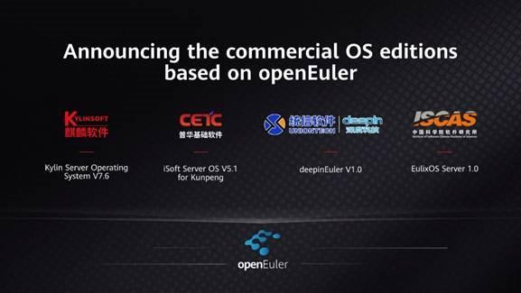 Четыре разработчика ОС представили коммерческие версии своих систем на основе openEuler